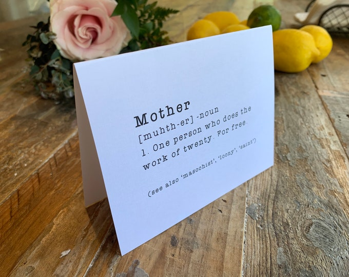 Funny Mother's Day Card - definition