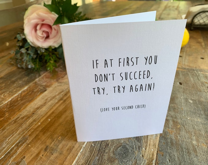 Funny Mother's Day Card- try again