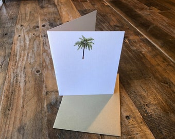 Palm Tree Note Card Any Occasion