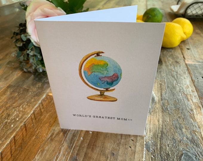Funny Mother's Day Card - world