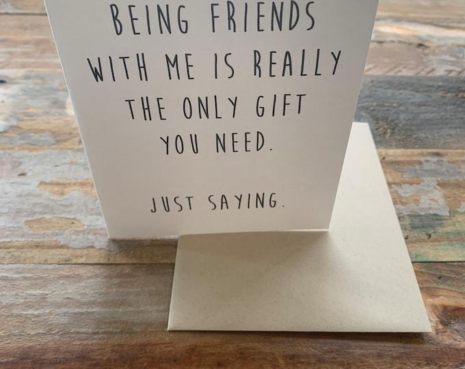 Funny Friend Birthday Card