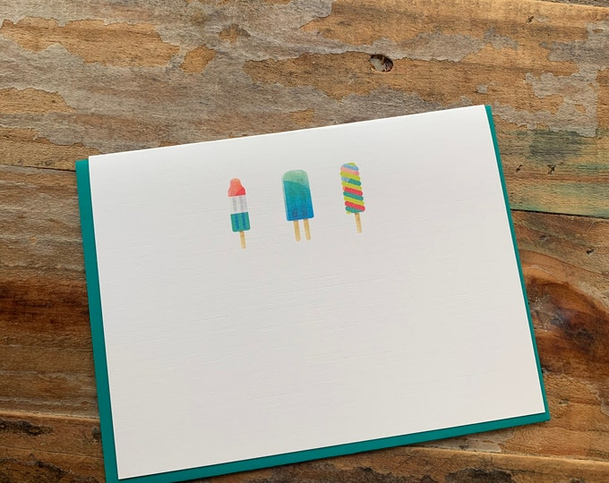 Popsicle Note Card
