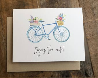 Note Card, Bicycle, Enjoy the Ride, thank you card