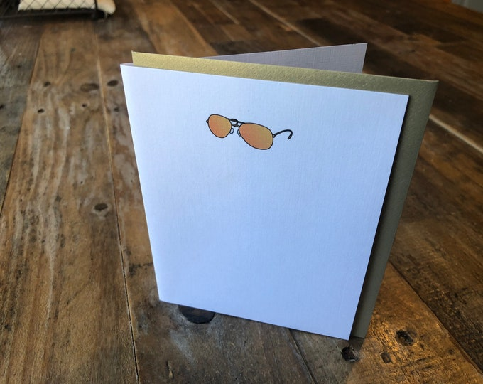 Aviator Sunglasses  Note Card Any Occasion