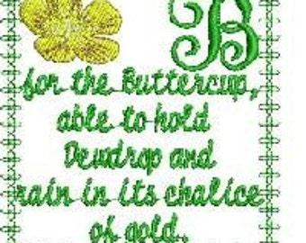 Wildflower Alphabet Embroidery Designs