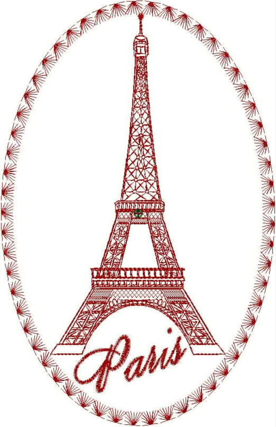 Colección de diseño de bordado de Torre Eiffel | Etsy
