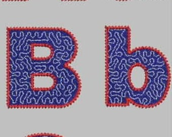 Bandanna Alphabet Embroidery Design Collection