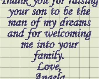 Angela Hankie Custom Digitized Embroidery Design (private listing)