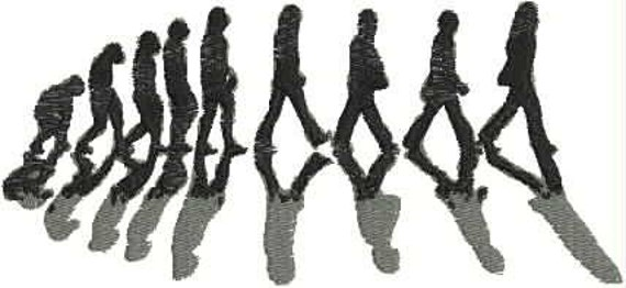 Evolution Of The Beatles Embroidery Design Etsy