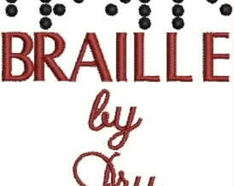 Braille Alphabet Embroidery Designs