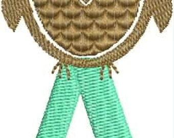 Owlphabet (Owl Alphabet) Embroidery Designs