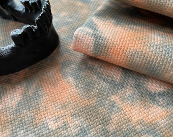 Spooky Tie Dye Effect Printed Cross Stitch Aida & Evenweave Fabric - Various Sizes And Counts - Ideal For Halloween And Goth Style Projects