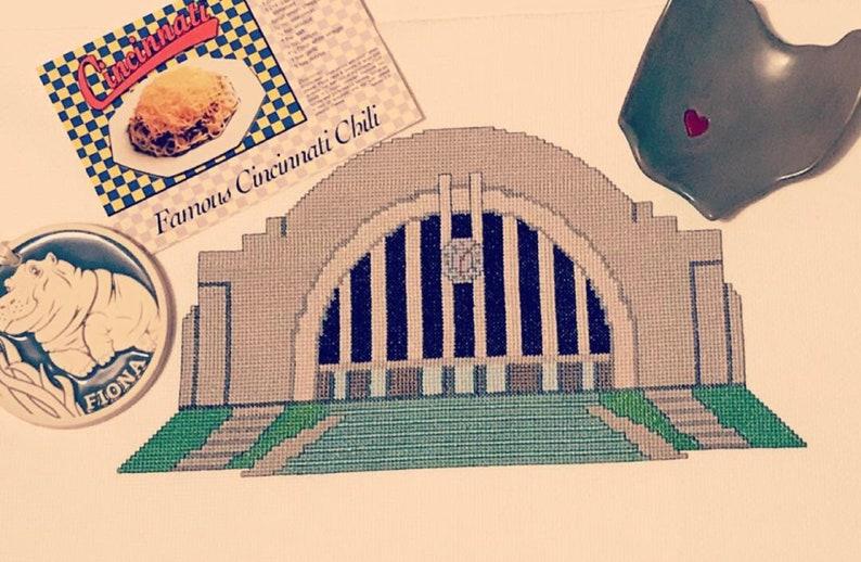 Cincinnati Union Terminal Museum Center Cross Stitch Chart image 0