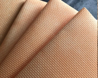 Apricot Sparkle Orange Hand Dyed Effect Printed Cross Stitch Aida Fabric With Opalescent Style Sparkle Finish - Spooky Autumnal Fall!