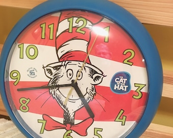 c15aff78 Vintage The Cat in the Hat Dr. Seuss Wall clock