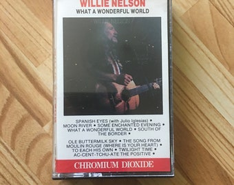 Willie Nelson What a Wonderful World Cassette Tape