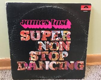 James Last Super Non Stop Dancing Double Record Album NEAR MINT condition