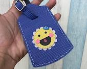 Sunflower Epi leather luggage tag ( Violet )