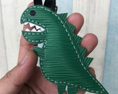 Small size - Dino the Dinosasour epi leather charm ( Green )