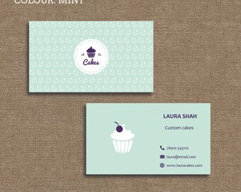 Bakery business card etsy popular items for bakery business card reheart Images