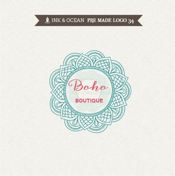 Boutique Premade Logo Design For Your Business Henna Artist Etsy