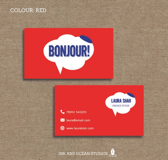 Printable stylish elegant french teacher tutor education etsy image 0 colourmoves