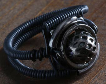 Black ring, Cybergoth Jewelry