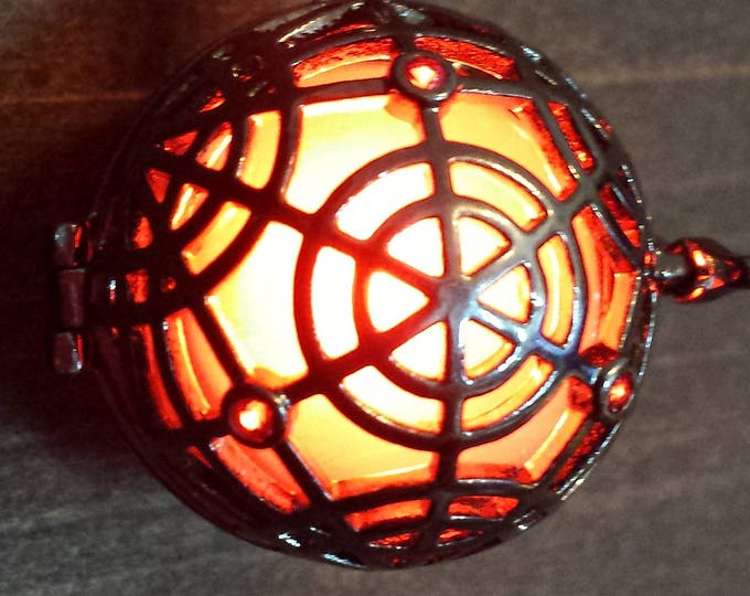 Magical Circle Glowing Magick Pendant Locket LED jewelry