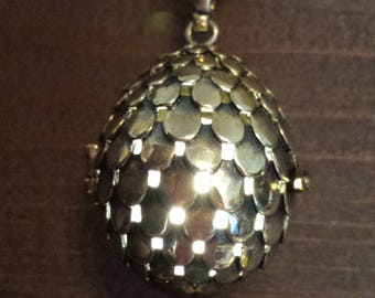 Antique bronze dragon egg glowing pendant necklace LED - Choose your color