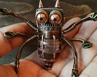 Little Steampunk Robot Sculpture
