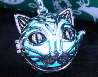 Glowing Cat Pendant - Choose your color