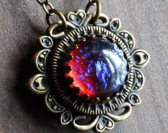 Neo victorian Jewellery - Necklace - Dragon's Breath Pendant