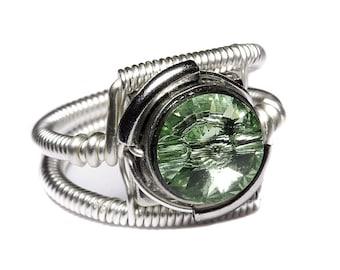 Steampunk Crystal Rings