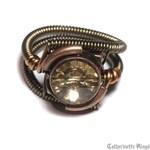 Steampunk Jewelry - RING - Colorado Topaz Svarovski Crystal