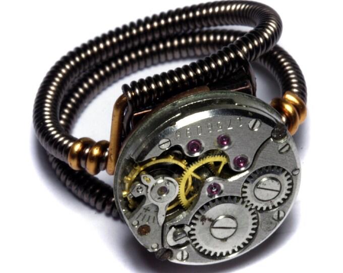 Steampunk Ring Statement Ring Custom Made Steampunk Jewelry
