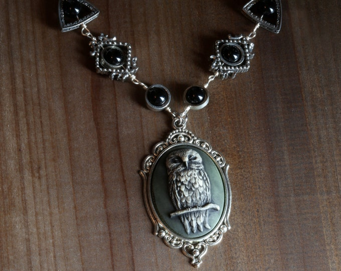 Neo Victorian Goth Jewelry - Necklace - Owl