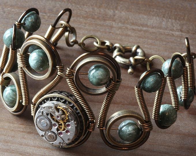 Steampunk Jewelry - Bracelet - Seraphinite