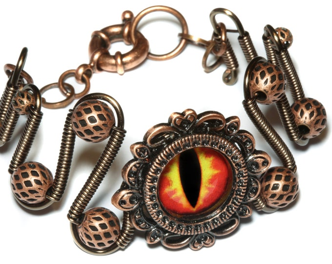 Dungeons and dragons Jewelry - Bracelet - Fire dragon eye