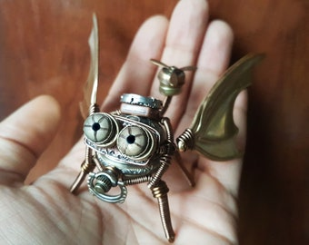 Steampunk flying creature sculpture - One of a kind