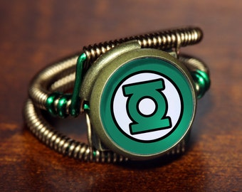 Steampunk Jewelry - Ring - Green Lantern