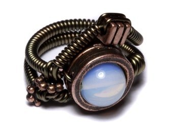 Steampunk Jewelry - Ring - OPALITE