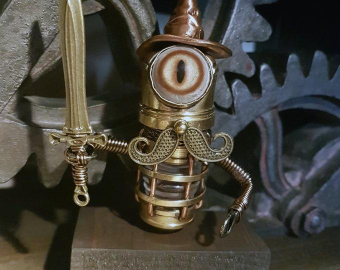 Robot Wizard Sculpture