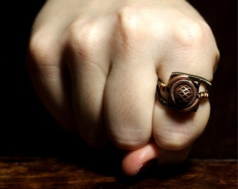 Steampunk Jewelry - RING - Copper (Custom size available - see description)