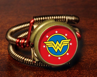 Steampunk Jewelry - Ring - Wonder Woman