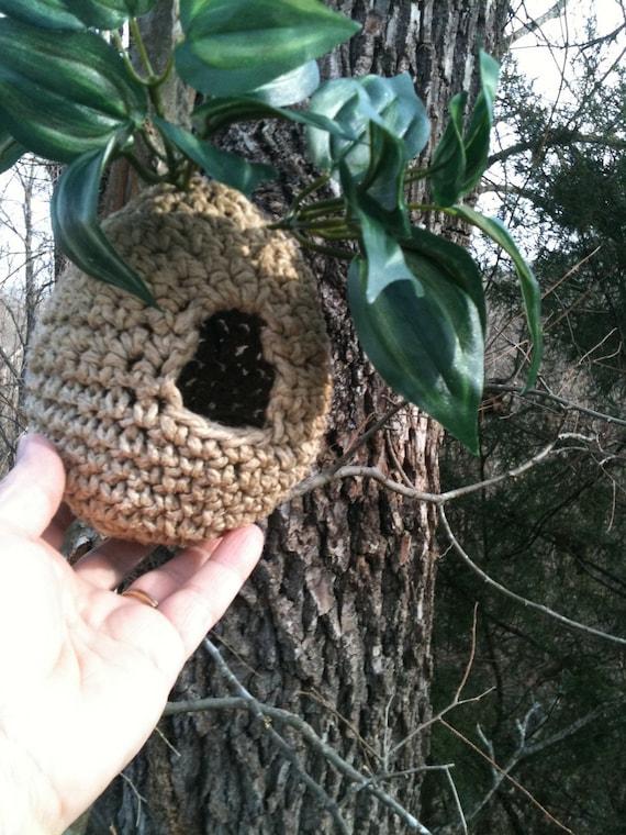 Immediate Download Pdf Crochet Pattern For Hemp Birdhouse Etsy