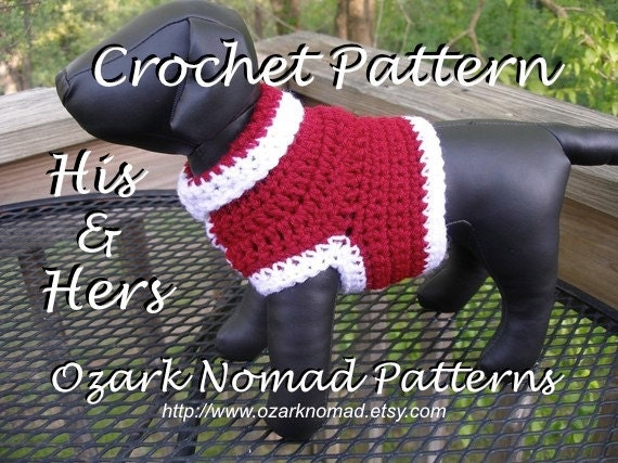 Immediate Download Pdf Crochet Pattern His And Hers Etsy