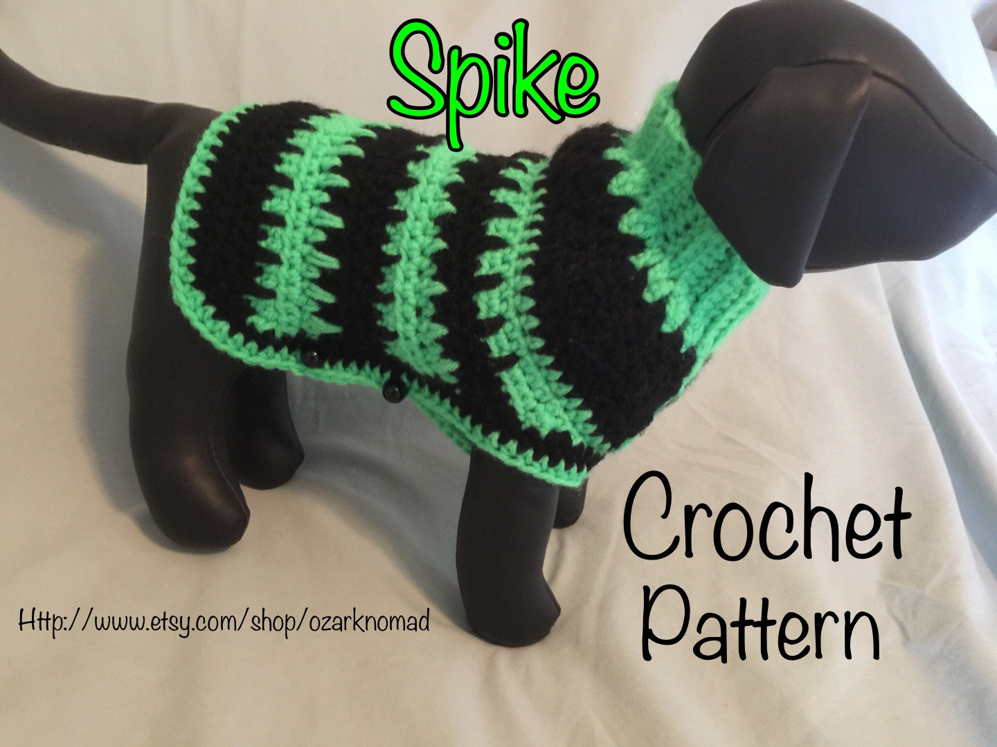 Spike Digital Download Crochet Pattern For Little Dogs Etsy
