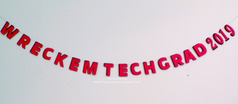 Wreck Em/'Tech Graduation Garland Photo Prop Grad Party Texas Tech Commencement Home Decor 6/' x 3 34 Red and Black