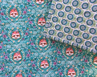 modern, baby foxes ...baby quilt .... whole cloth, baby girl quilt, stroller quilt, crib quilt, car seat quilt