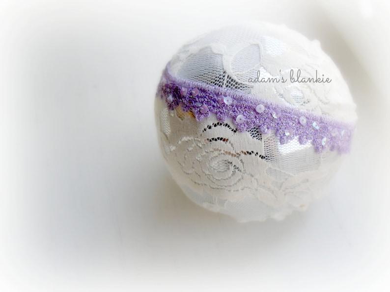 Lilliana  Lilac Lavender Purple Lace Headband  Sequins  image 0